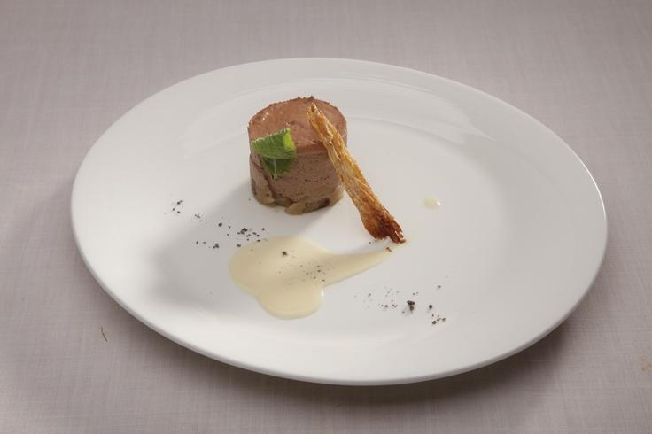 Foie-gras, melón y vinagreta de espinaca. Restaurante Sandó by Arzak Instructions. Hotel Santo Domingo - Madrid. http://restaurantesando.es