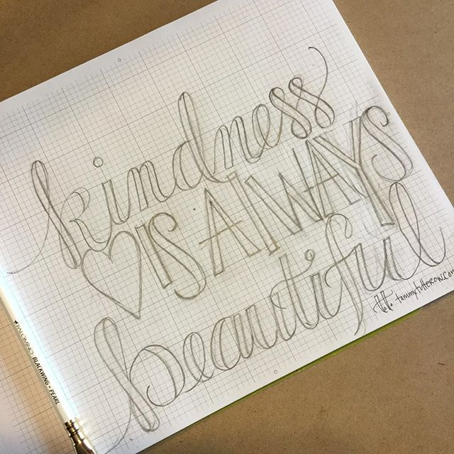 Using today's #letteritapril prompt for today's lettering practice. #handlettering #lettering @jennyhighsmith