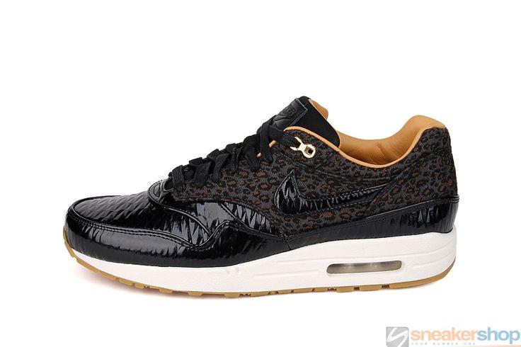 Nike Air Max 1 FB Woven (Black/Black-Sail-Metallic Gold)   616315-001