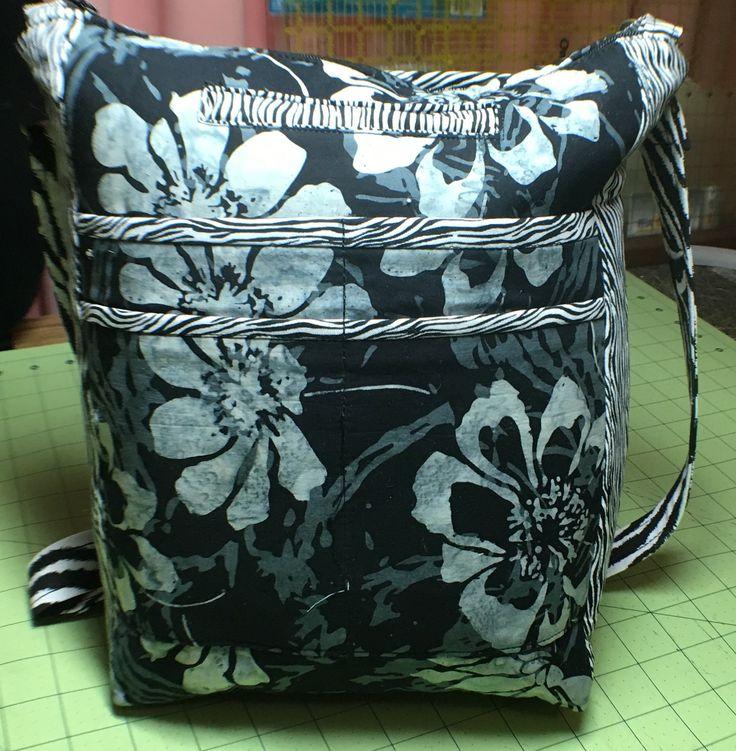 Black & White Zebra African Print Shoulder Bag/Fabric