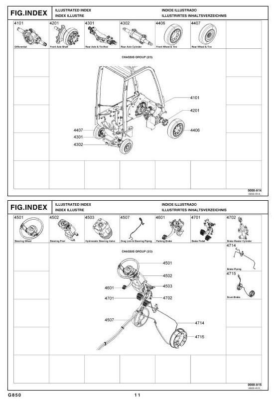 Toyota Lpg Forklift Type 8fgcsu20  8fgcu15  8fgcu18 Parts Manual