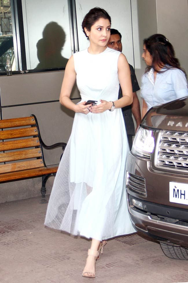 Love the classy look! Anushka Sharma at a promotional event of Bombay Velvet.