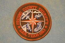 Fresno County Sheriff's Office - Search and Rescue Team Patch