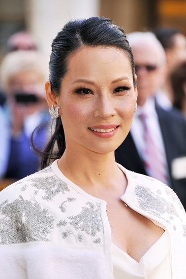 Lucy Liu's side-parted ponytail