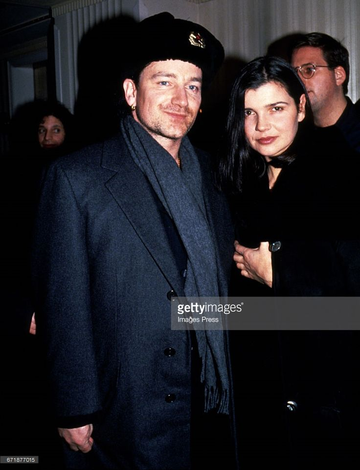 Bono and wife Ali Hewson attend the 1994 Rock and Roll Hall of Fame Induction Ceremony circa 1994 in New York City.