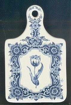 Delft Cutting Board (decorative) Tulip Design