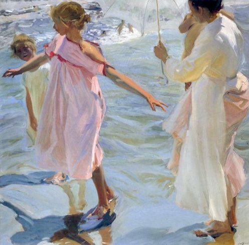 Joaquin Sorolla y Bastida. Bathtime. Valencia. 1908. Oil on Canvas