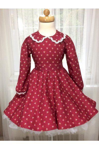 Dětské šatičky s dlouhým rukávem a límečkem kulatý výstřih s límečkem dlouhý rukávek ukončený gumičkou šaty jsou v pase na gumičku pásek se zapínaním na knoflíčky zip na zádech