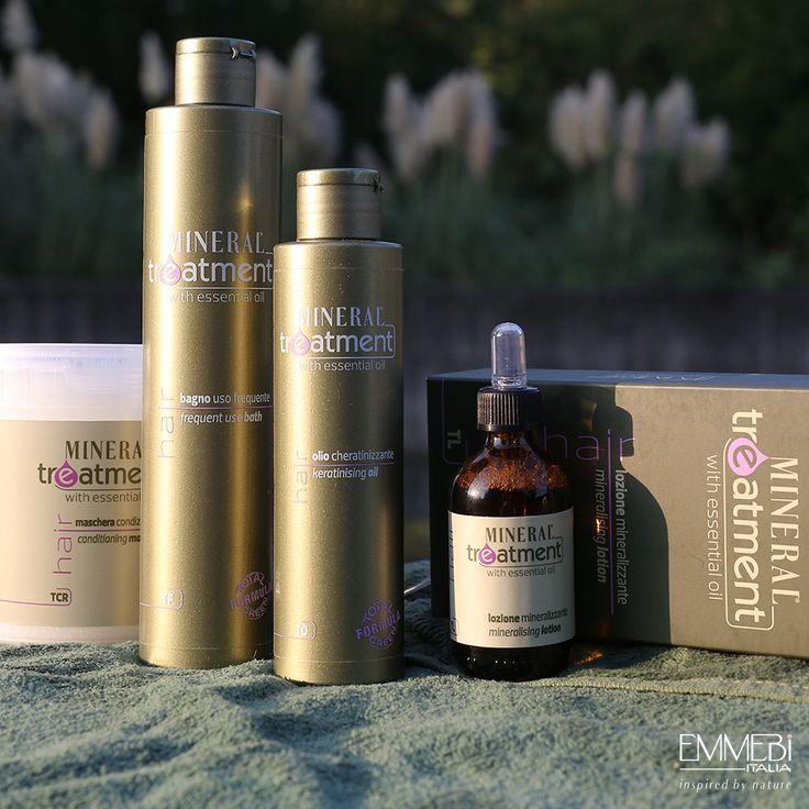 Linea Tricologica Mineral Treatment di Emmebi Italia. Programma Hair