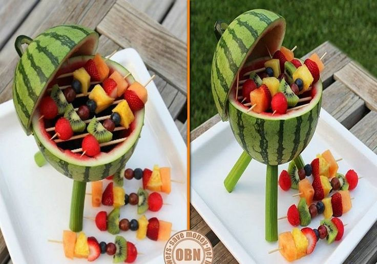 Fan @*Lauren * Lighting posted earlier that a beach party is never complete without BBQ. Will this do the trick? Learn how to make this watermelon grill by viewing the full album of this project with links to instructions, and a video on our site at http://theownerbuildernetwork.co/diy-fruit-grill/ Got an opinion on this project? Let us know by sharing your thoughts in the comments section.