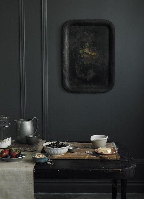 charcoal grey walls