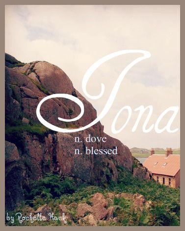 Baby Girl Name: Iona. Meaning: Blessed (Irish) Dove (Scottish). http://www.pinterest.com/vintagedaydream/baby-names/