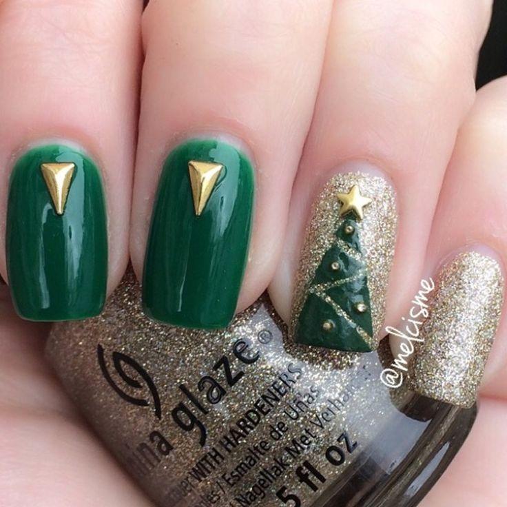 Mejores 2974 imágenes de CHRISTMAS NAILS en Pinterest | Ongles, Uñas ...
