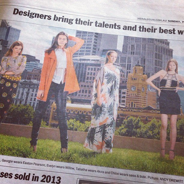 Designer brings their talents and their best work home to @lmff #eastonpearson #willow #akira #sass @Herald Sun
