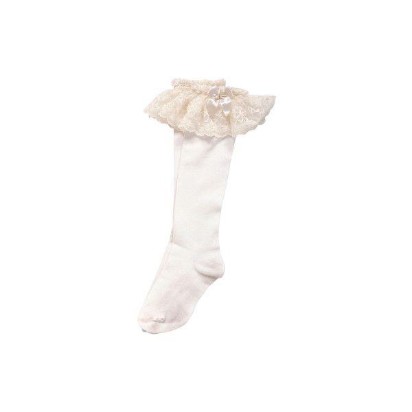 ラッセルレースハイソックス KERA SHOP[ケラ!ショップ] ❤ liked on Polyvore featuring intimates, hosiery and socks