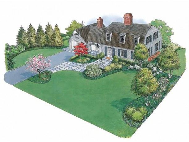 Landscape Plan with 0 Square Feet from Dream Home Source | House Plan Code DHSW5…