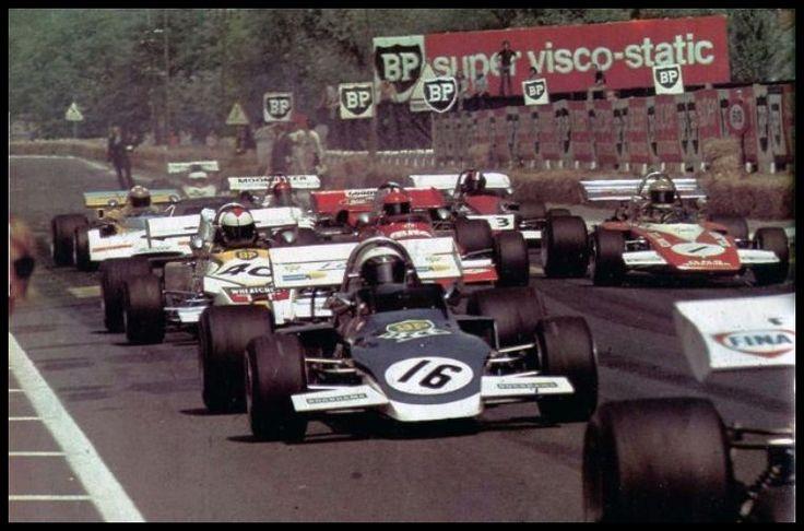 (16) Peter Westbury - Brabham BT38 Cosworth BDA - FIRST - (40) Roger Williamson - March 722 Cosworth BDA - Wheatcroft Racing - (1) Reine Wisell - GRD 272 Cosworth BDA - GRS International - XXXII Grand Prix Automobile de Pau 1972 - European F2 Championship, Round 4