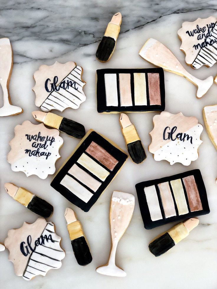 Make up cookies Glam and spa cookies 1 Dzn (birthday
