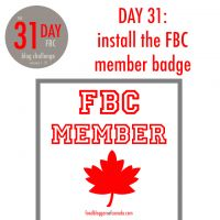 31 day blog challenge | Food Bloggers of Canada