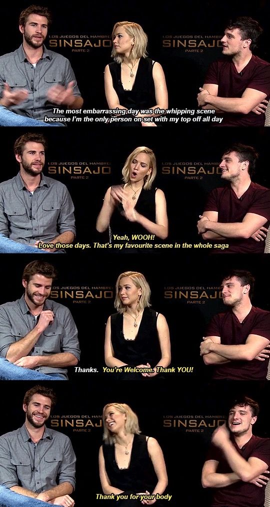 Thank you for your body haha. Jennifer Lawrence just makes me laugh.