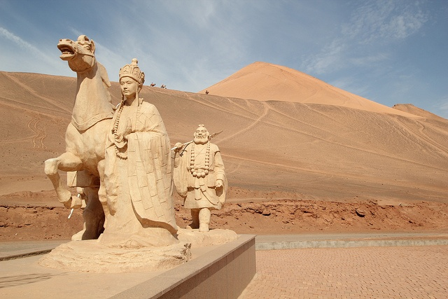 The Bezeklik Thousand Buddha Caves near Turpan, Xinjiang, China