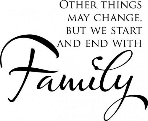 Family is a person's basic foundation. The type of family a person has says a lot about what type of person he is. When everything else fails, our family are the only people who will love us and will carry us through life no matter what. Here are quotes that convey the beauty of family love: