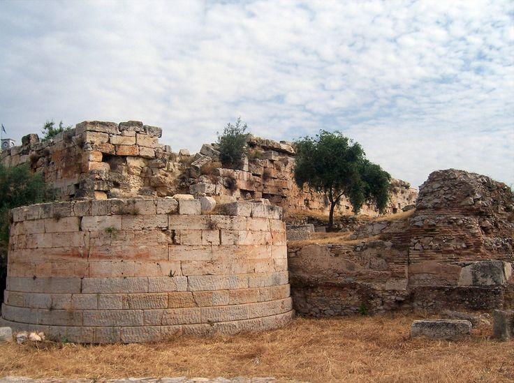 Lycurgan - Ruinas de muro y Torre, Eleusis