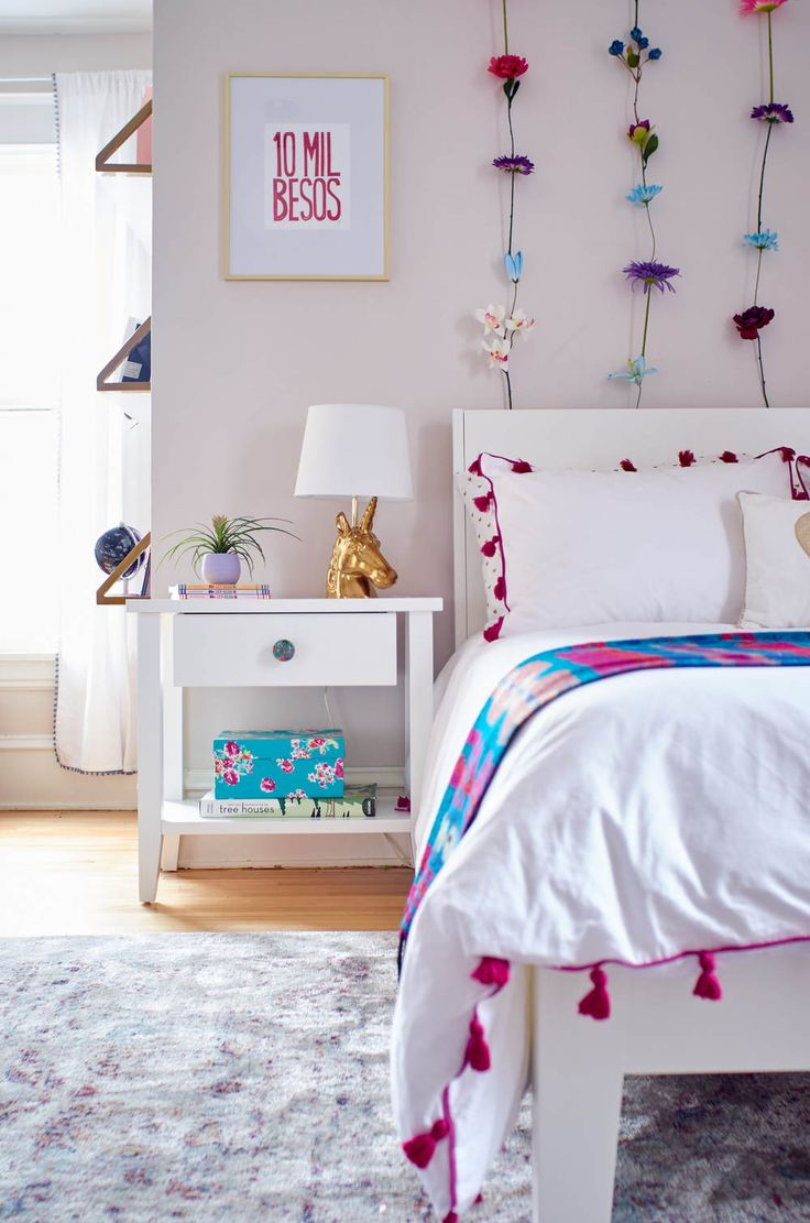 Take a look at this modern, magical little girl's room transformation.