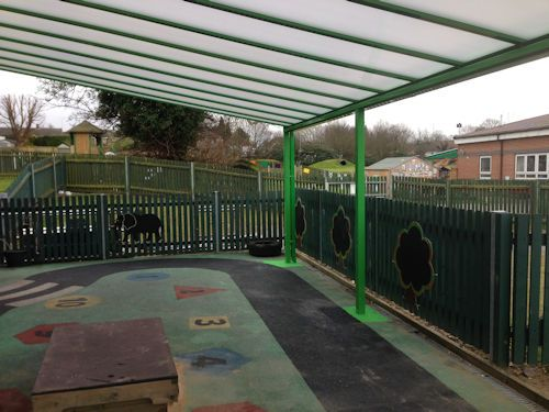 We installed a 10m x 5.2m Coniston Wall Mounted Canopy in Yellow Green at Leagrave Childrenu0027s Centre //.ablecanopies.co.uk/i/bedfordshireu2026 & We installed a 10m x 5.2m Coniston Wall Mounted Canopy in Yellow ...