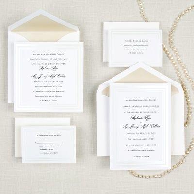 Pearl Pleasure Wedding Invitation - Classic and Simple Wedding Invitations