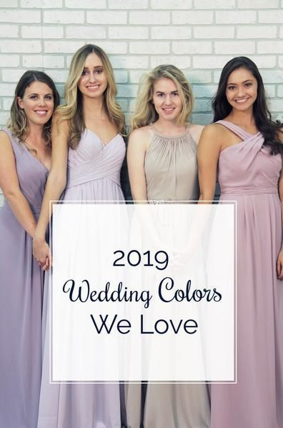 ac66ee040e5a 2019 wedding colors, bridesmaid, wedding planning, trendy bridesmaids  dresses, fall wedding, spring wedding, winter wedding, summer wedding, mix  and match ...