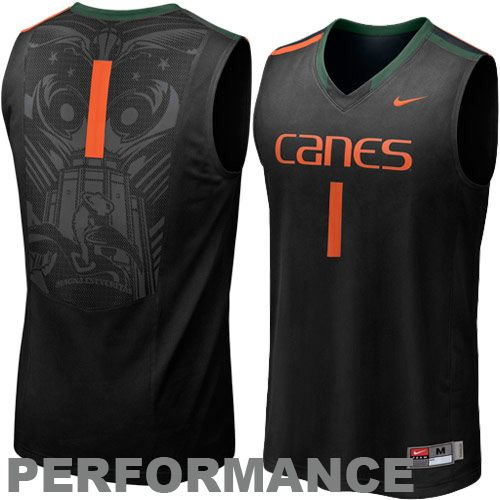 Miami Hurricanes #1 Aerographic Tackel Twill Basketball Performance Jersey