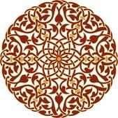 Clipart of brown, gold and blue round Arabesque Design u17583940 - Search Clip Art, Illustration Murals, Drawings and Vector EPS Graphics Images - u17583940.eps