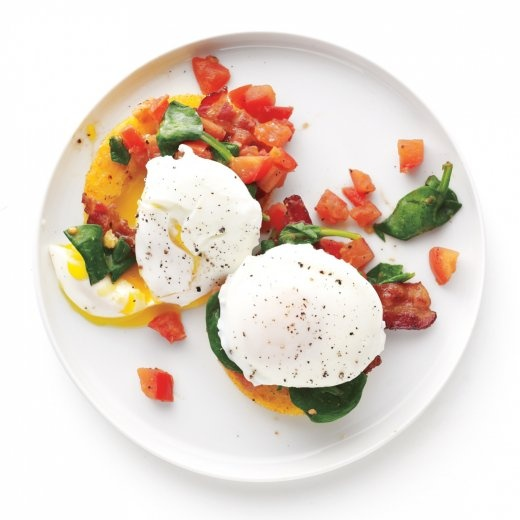 Bacon and Eggs with Polenta-Veggie Stacks | Recipe | Polenta and ...