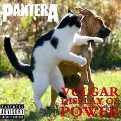 pantera - haha, love the album cover reference