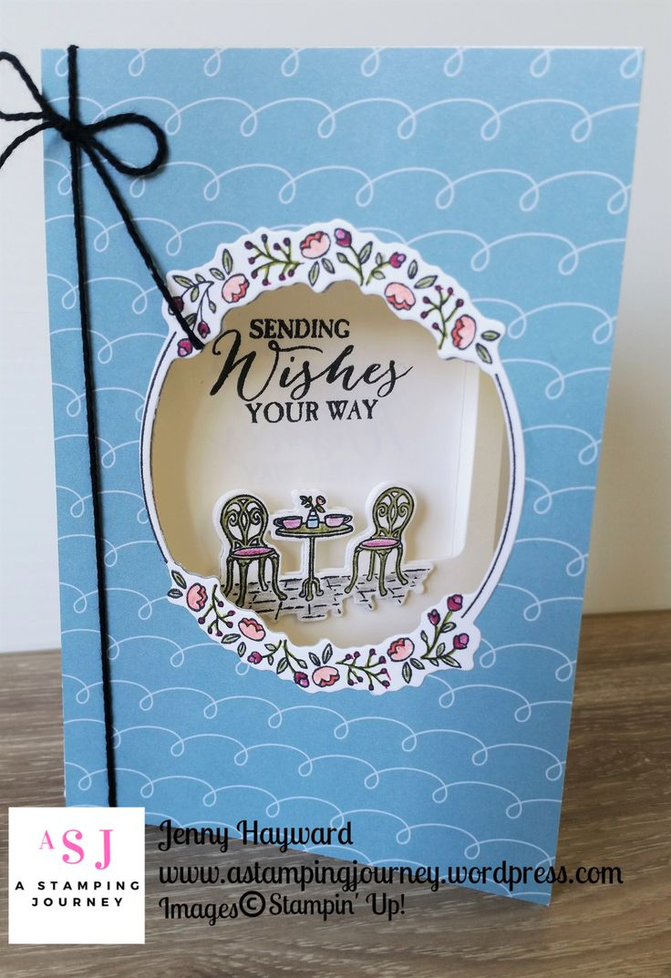 The Charming Cafe Bundle is a great new product with stamps and Framelits to create some different folds like the Trifold card.  As I was using it I found some useful tips that might help you out. #charmingcafebundle #2018occasionscatalogue #stampinupaustralia