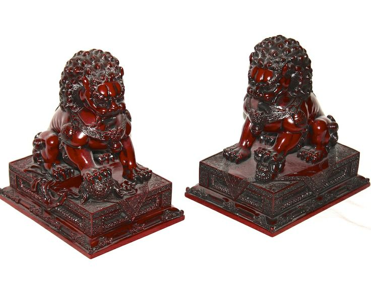 A pair of large Foo Dogs  # O-11116  ~