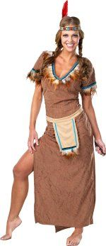 Unbranded Fancy Dress Costumes - Adult Tiger Lilly Red Indian X-Small: 6-8
