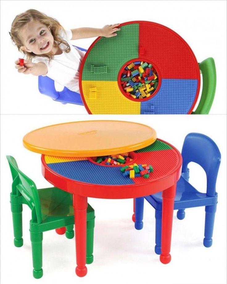 Kids Activity Table And Chair Set Toddler Play Eat Art Desk Storage Furniture  #KidsActivityTableAndChairSet