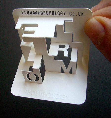 3D business cards.