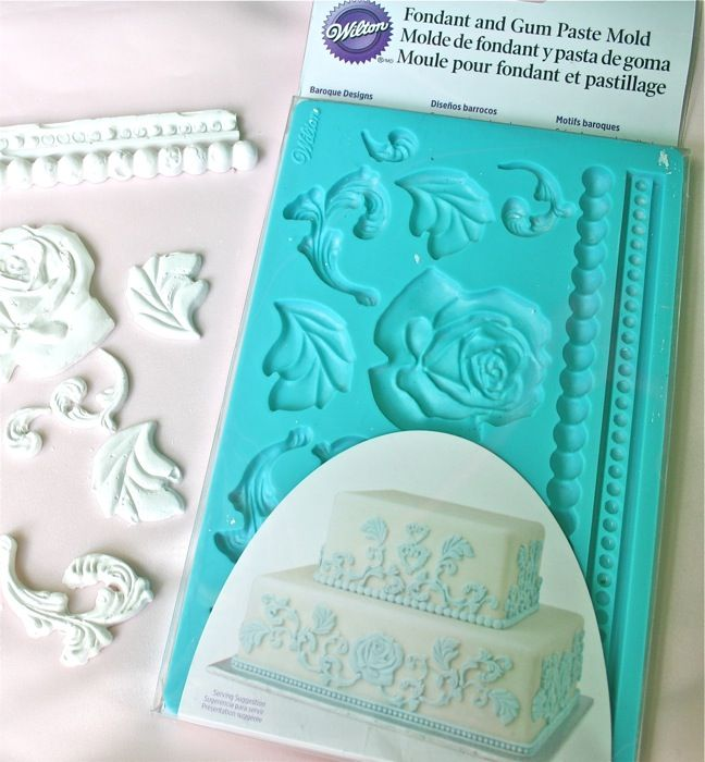 The Polka Dot Closet: DIY Plaster Appliques using Wilsons Fondant Molds...so trying this! :))