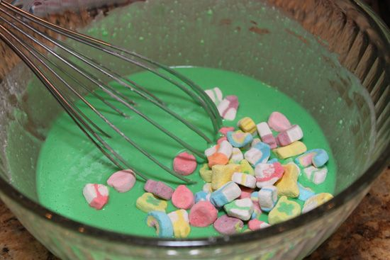 Lucky Charms Pancakes. St. Patty's Day Breakfast?!?
