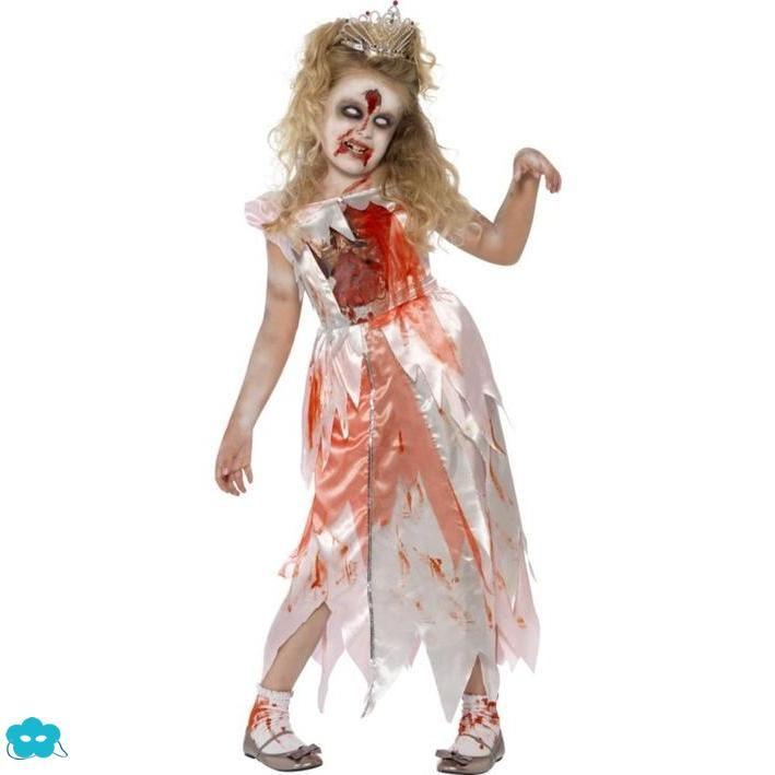Disfraz de princesa zombie para niña
