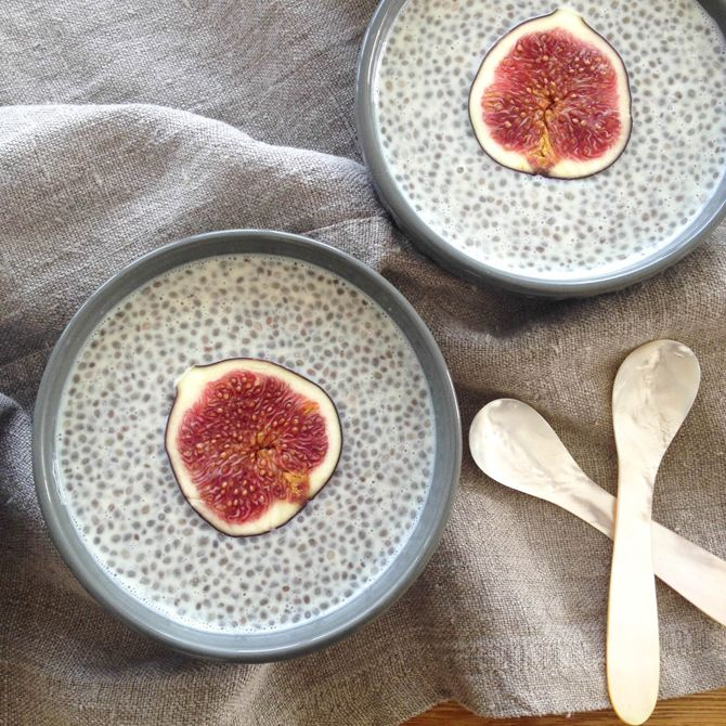 simple chia pudding recipe | serving suggestions: try layering with fresh fruit and/or granola.