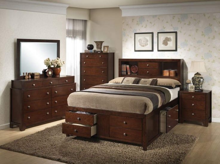 Barlow Queen Bedroom Set Bedroom Pinterest Queen Bedroom - Bedroom furniture with lots of storage
