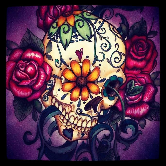 Sugar Skull Tattoos Amp Piercings Pinterest