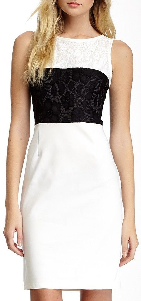 Lace Embellished Dress. Simple and lovely.