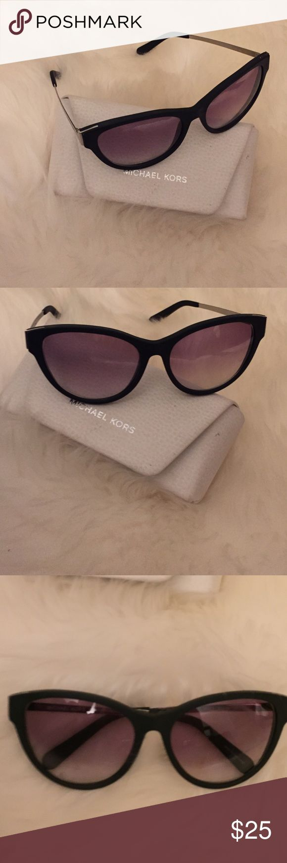 Michael Kors RX Sunglasses with Case Great condition. Small prescription. .5 farsided. Lenses can be replaced Accessories Sunglasses