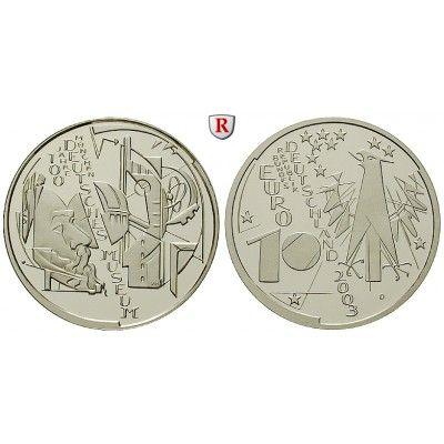 Bundesrepublik Deutschland, 10 Euro 2003, Deutsches Museum München, D, bfr., J. 497: 10 Euro 2003 D. Deutsches Museum München. J.… #coins