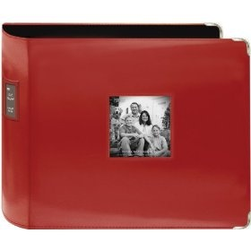 Pioneer 12-Inch by 12-Inch Sewn Leatherette 3-Ring Binder, Red $19.59